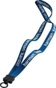 """1/2"""" Smooth Nylon Lanyard w/ Plastic Clamshell and O-Ring"""