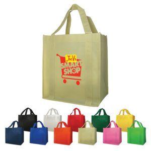 "Bags - Non-Woven (12""W x 13""H x 8""D) Shopping Tote Bags"