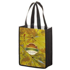 """Full Coverage PET Non-Woven Tote Bag w/ Full Color (8""""x4""""x10"""") - Sublimated"""