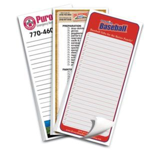 "Full Color High Quality Notepads 3 1/2""x8"" - 25 Sheets"
