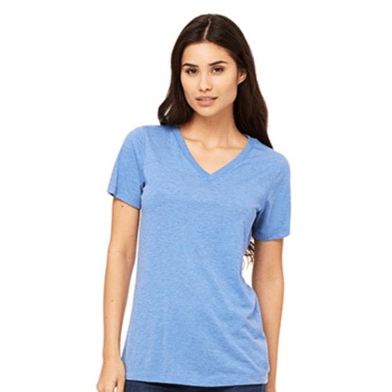 d6a36e9898a19 BELLA+CANVAS Missy Jersey Short-Sleeve V-Neck T-Shirt