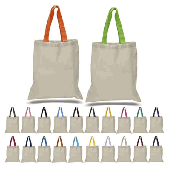 Small Custom Promotional Cotton Canvas Tote Bag Seattle