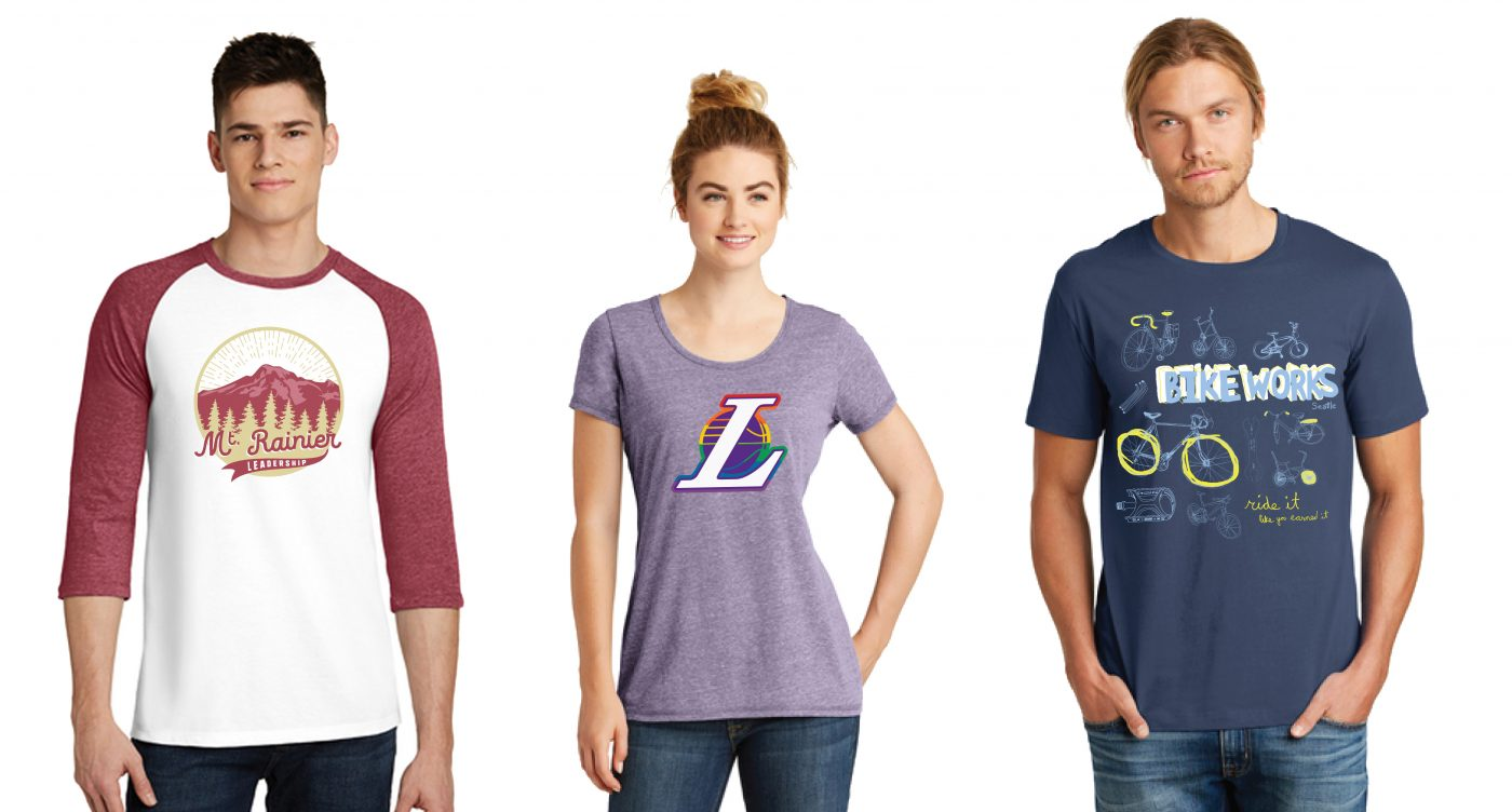 Graphic Design Services for Promotional Products Seattle-t-shirt portfolio B-BAM!