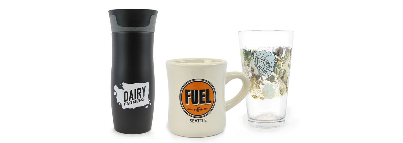 Custom Designed Promotional Drinkware For Seattle Businesses