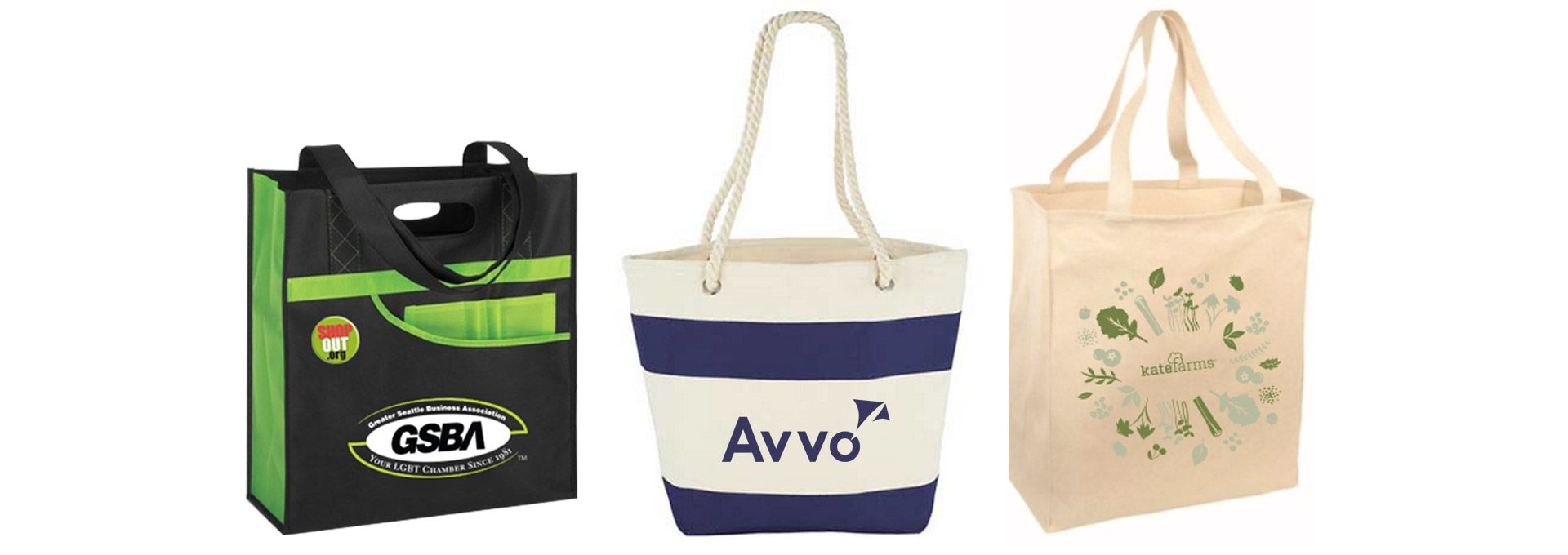 Custom Printed Branded Promotional Tote Bags Supplier Seattle
