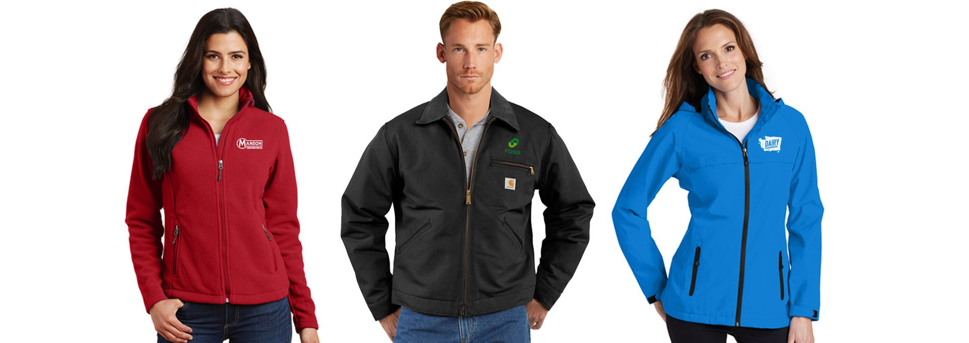 Custom Branded Corporate Logo Promotional Jackets Seattle