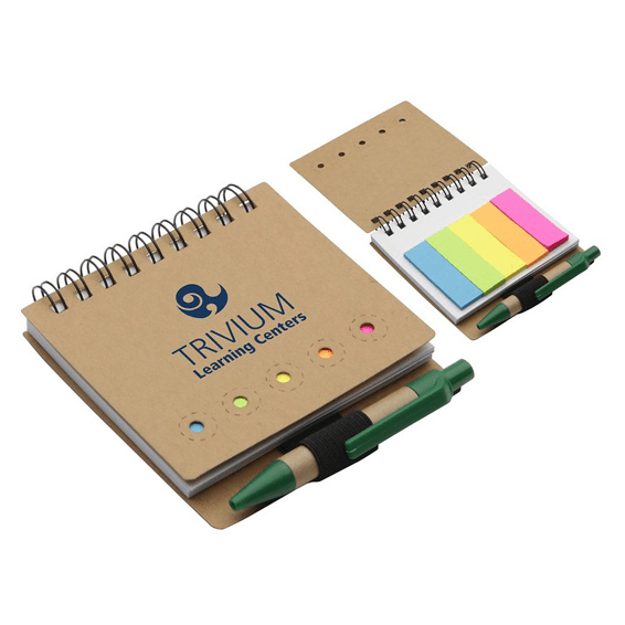Custom Printed Corporate Logo Branded Promotional Stick Notes Pads Seattle: Flag Jotter