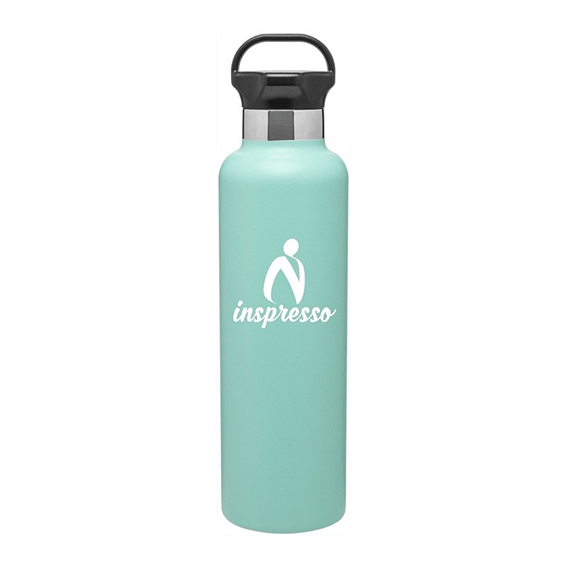 Custom Printed Corporate Logo Water Bottles Seattle H2go Ascent Powder Coated Stainless Steel