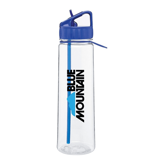 Custom Printed Corporate Logo Water Bottles Seattle H2go Angle BPA-Free Flip Up Spout