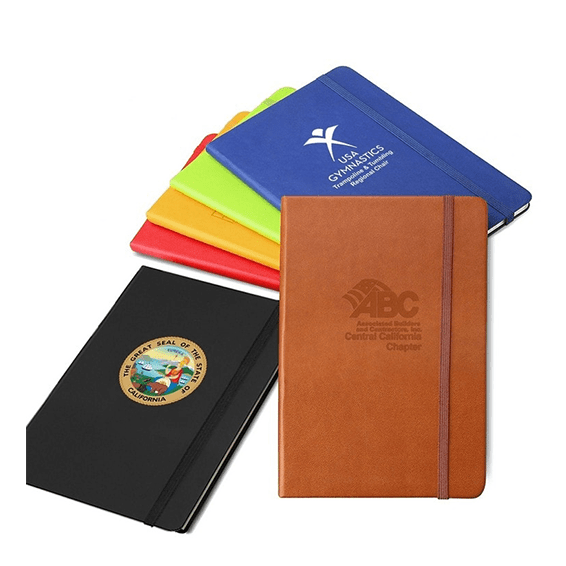 Custom Printed Corporate Logo Seattle: Italian Leather Journal