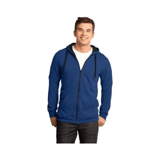 Custom Printed Branded Corporate Logo Hoodie Seattle: District Men's Fleece Full Zip