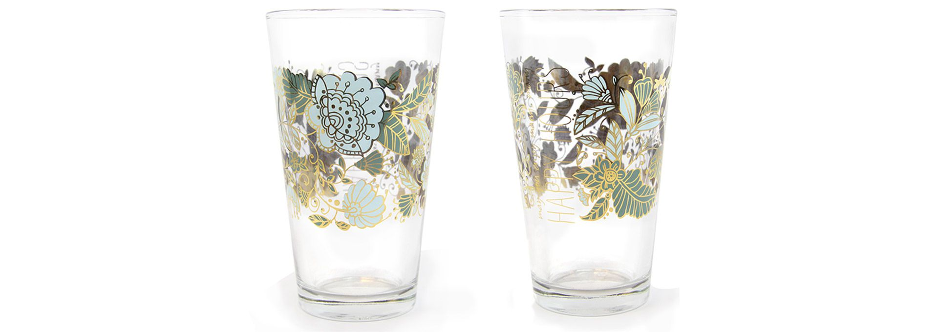 Custom designed promotional glasses glassware seattle