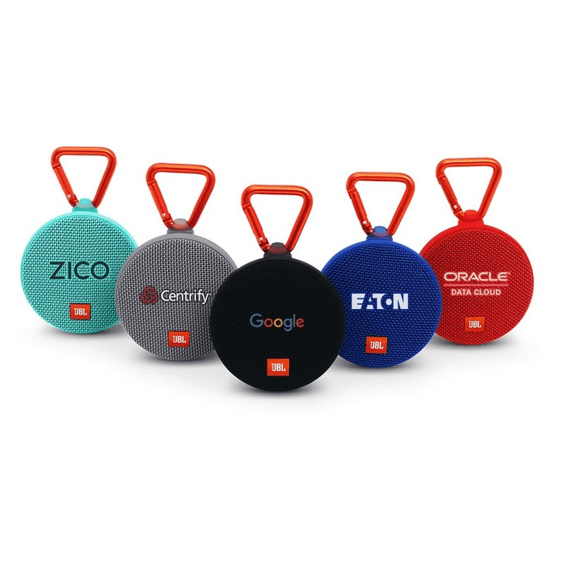 Custom Printed Corporate Logo Speaker Seattle: JBL Clip 2 Waterproof Wireless Bluetooth