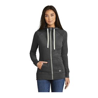 Custom Corporate Logo Hoodie Seattle: New Era Ladies Cotton Full Zip