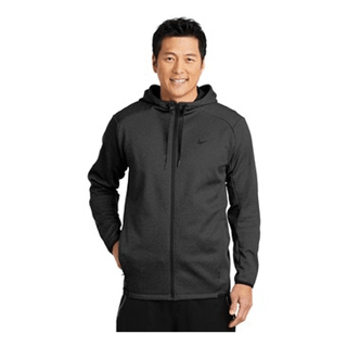 Custom Printed Corporate Logo Hoodie Seattle: Nike Therma-FIT Textured Men's Fleece Full Zip