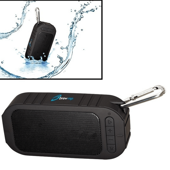 Custom Printed Corporate Logo Speaker Seattle: Water Resistant Wireless Bluetooth
