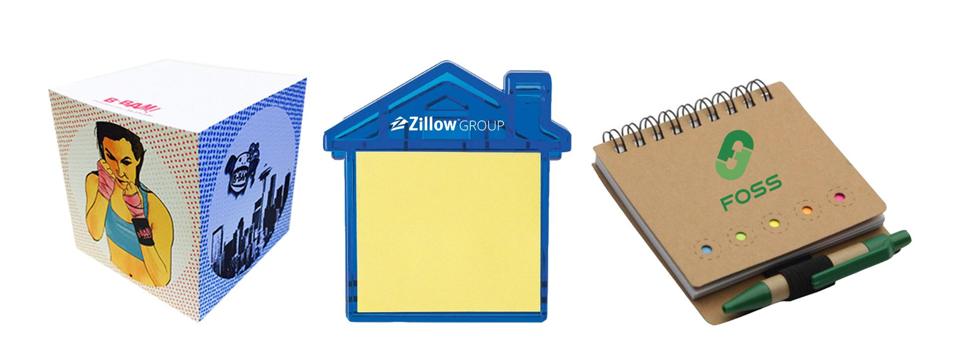 Custom Printed Corporate Logo Branded Promotional Stick Notes Pads Seattle