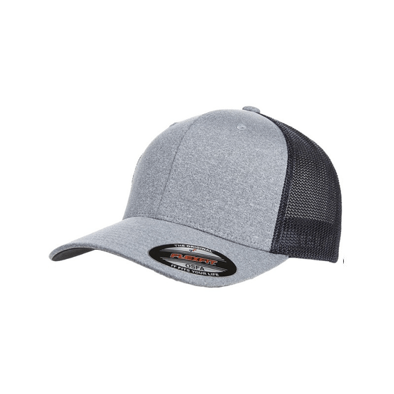 Corporate Logo Hats Seattle: Flexfit Adult Poly Melange Stretch