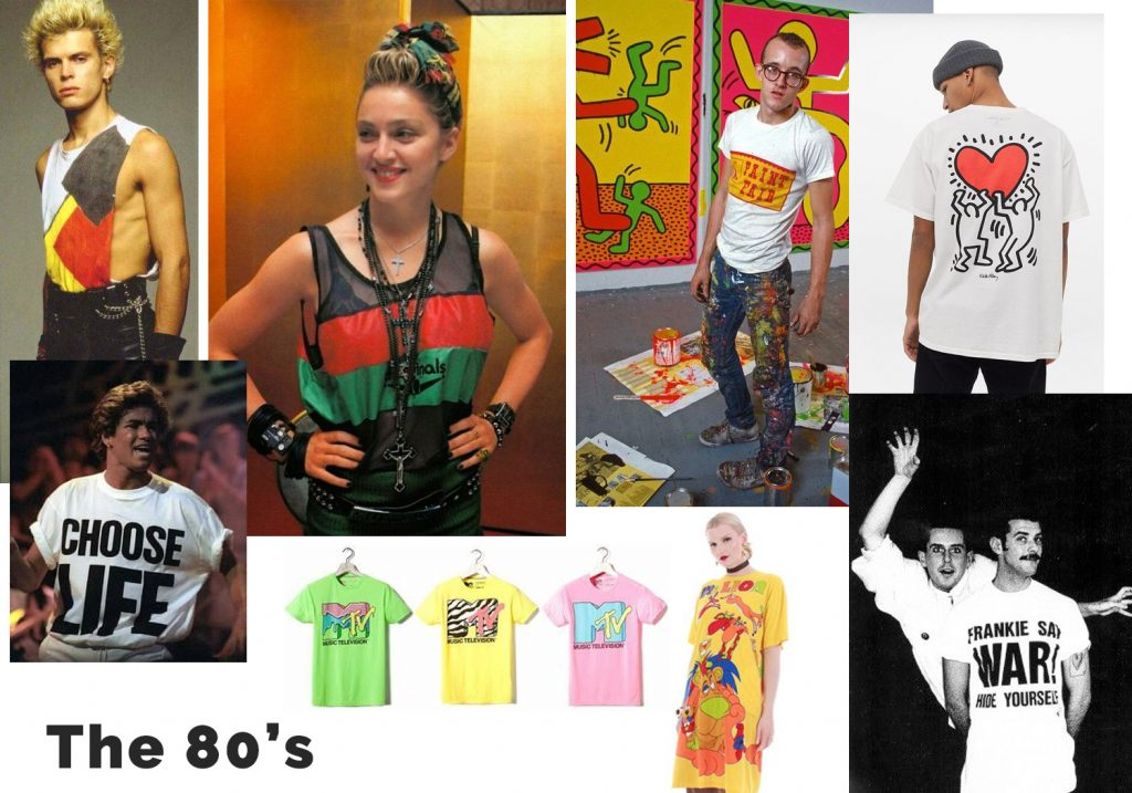 The History of T-shirts- 80's t-shirts