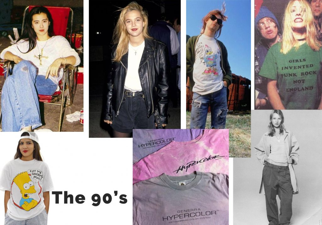 The History of T-shirts- 90's t-shirts