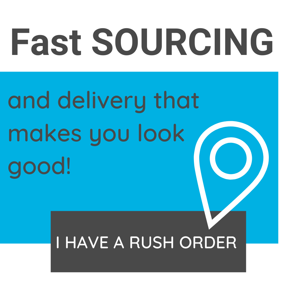 Click to fill out our RUSH ORDER promotional products form and we'll send you promotional product ideas available for rush orders straight to your inbox